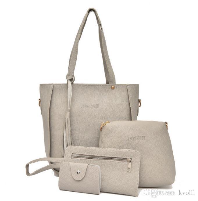 Sıcak satmak 4 adet / grup EUR Ve ABD Moda alışveriş çantaları güzel bayan çanta çanta kadın Seyahat makyaj omuz çantası çanta