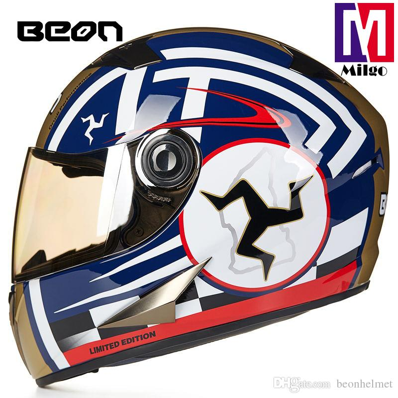 B-500 beon Unique design varied colors German ECE approved full face sport motorcycle helmet for men and women