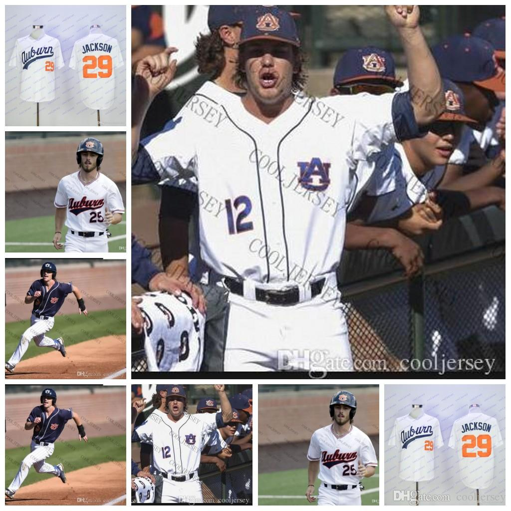 2019 Custom NCAA Auburn Tigers College Baseball Personalized Any Number  Name Stitched  9 Luke Jarvis 25 Jay Estes Jerseys White Orange Navy Blue  From ... cacc2410b