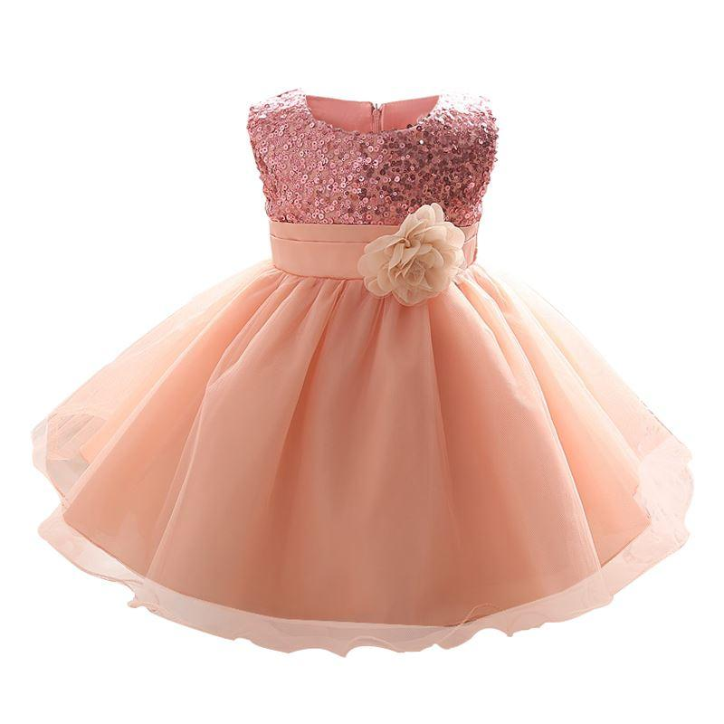 061d76aa48d2 2019 2   1 Year Birthday Party Little Dress Baby Girl Christening ...