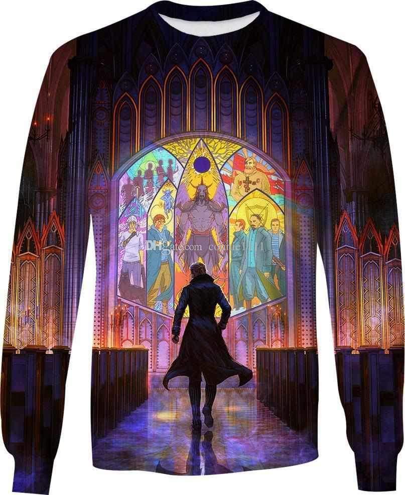 ad7d1295dd4c2 Fashion Long Sleeve Tee Pullover 3d Printing Men Women Hoodie Unisex ...