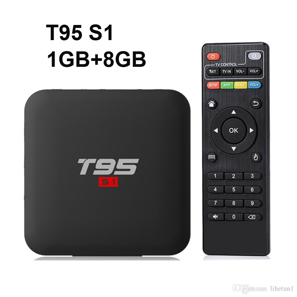 Original T95 S1 1GB 8GB android 7.1 tv box Amlogic S905W support 4k StbEmu Youtube Netflix set top box