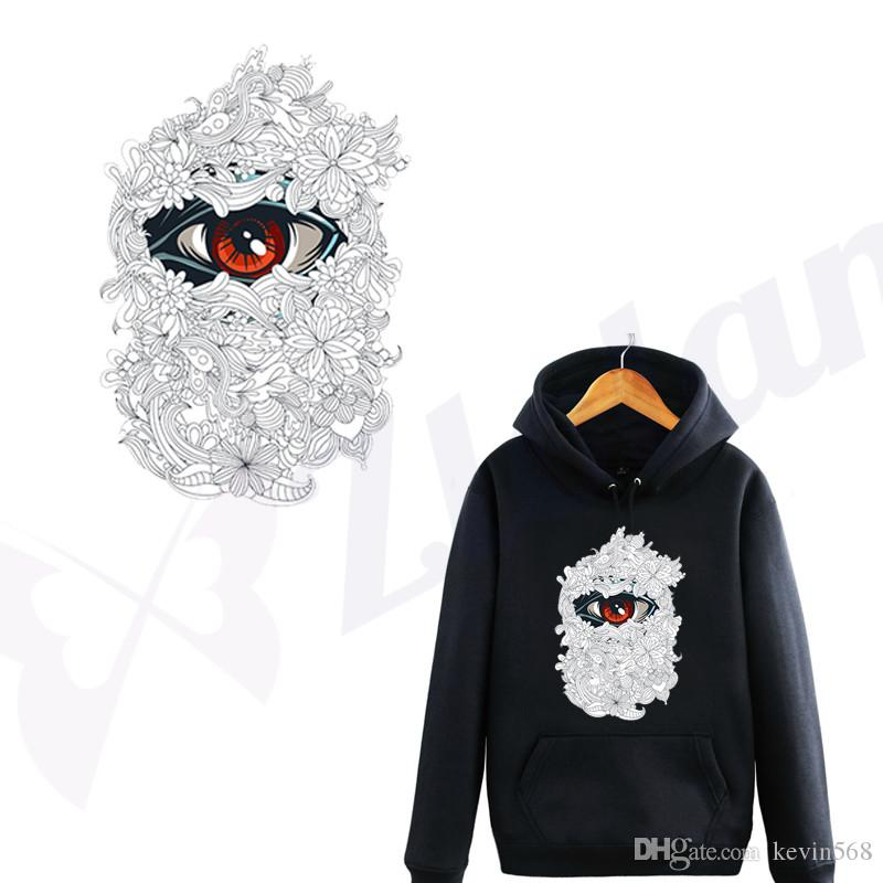 The Eye of wisdom appliques for clothes DIY T-shirt Hoodies Stickers Iron-on Transfers Patches For Clothing