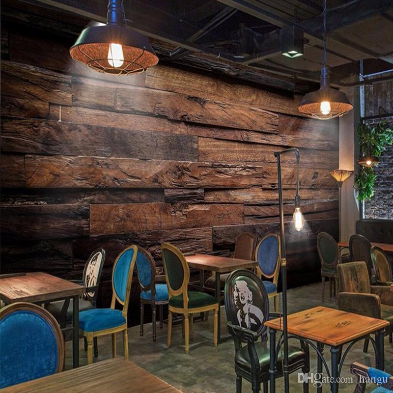 Custom Wallpaper Murals Large Wall Painting Retro Nostalgic Wood