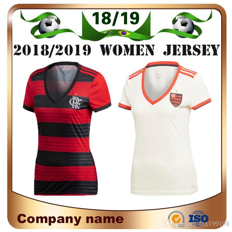 18 19 Camiseta De Fútbol Flamengo Para Mujer 2019 Casa   10 DIEGO Camiseta  De Fútbol De Dama E.RIBEIRO GUERRERO Niña Blanca De Visitante Uniforme De  Fútbol ... a81d9aa8ae661