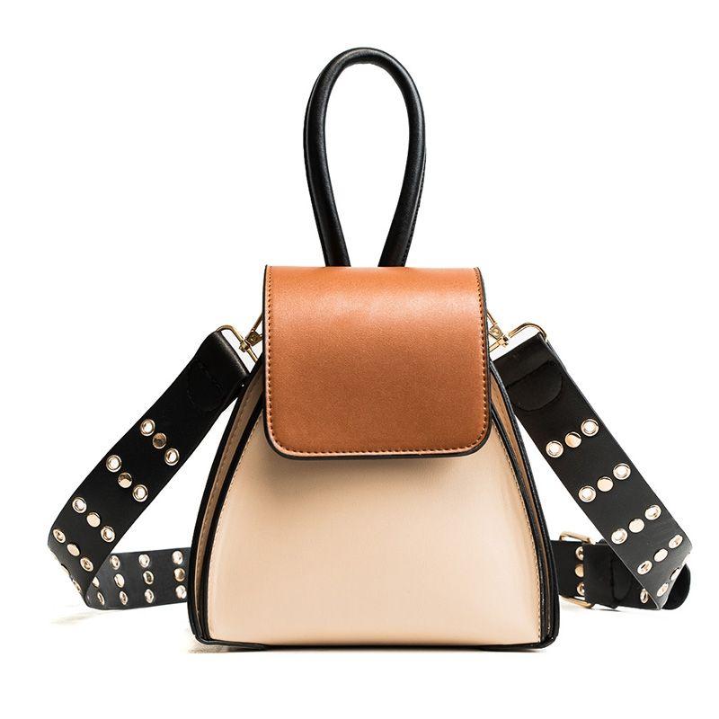 ea7fe90fd051 2018 Brand Fashion Luxury Handbags Woman Wide Strap Shoulder Bags PU ...