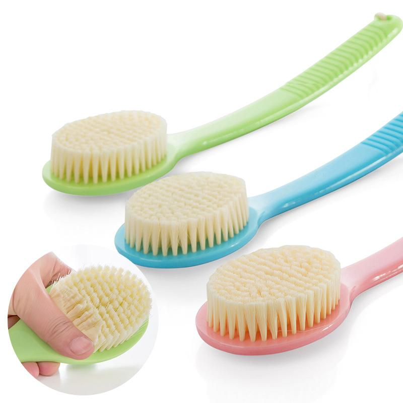 Soft Hair Brush Long Handle Bathroom Women Rub Bath Brush Wash Back Summer Body Cleaner