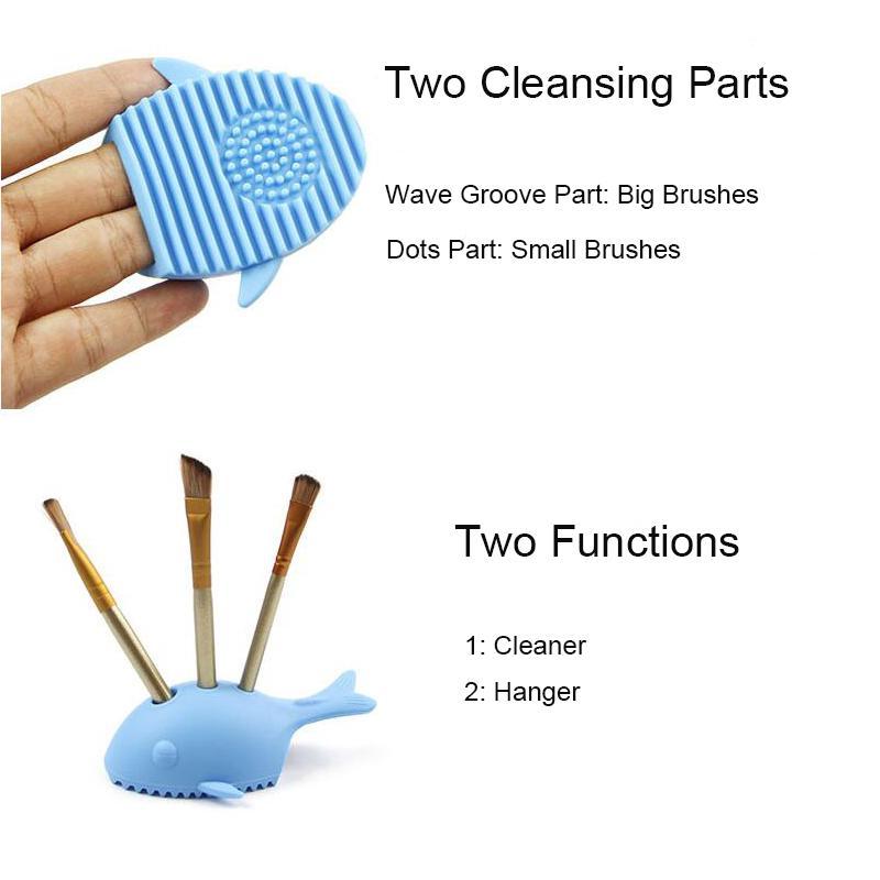 Brushegg Silikon Fırça Temizleme Yumurta Sevimli Balık Şekil Fırça Kozmetik Temizleyici Makyaj Fırçalar Temizleyici Temiz Aracı