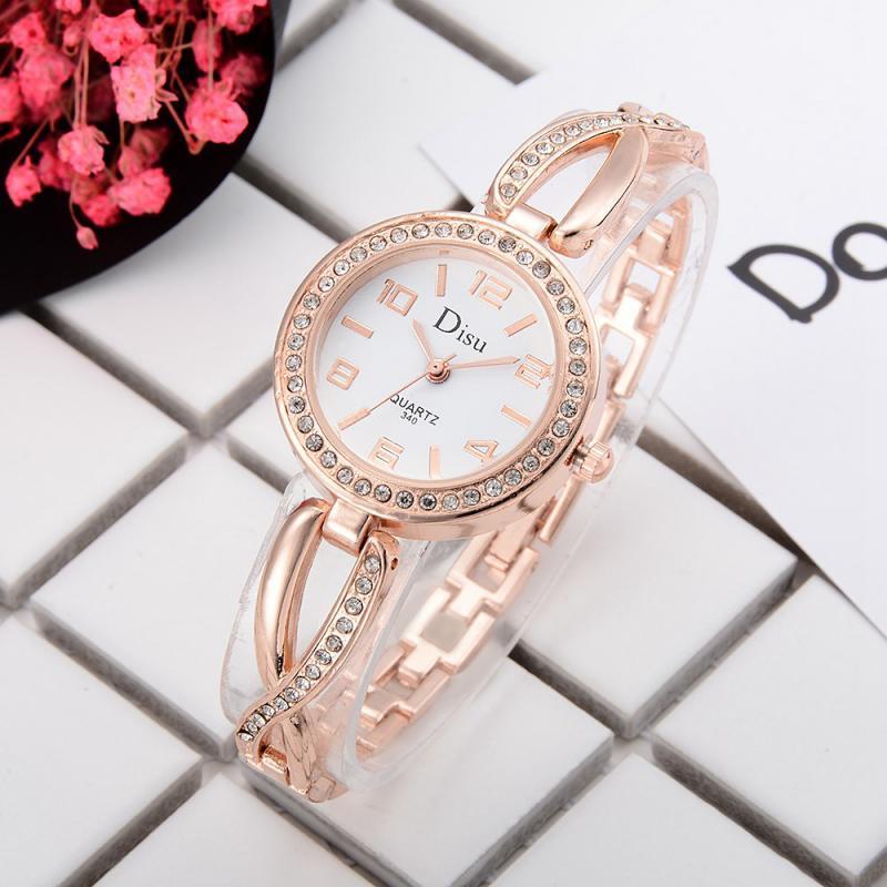 Compre DISU Marca Reloj De Pulsera De Lujo Para Las Mujeres De Aleación  Circular Reloj De Diamantes De Imitación Reloj De Pulsera Vestido Femenino  Reloj ... 545e84dff233