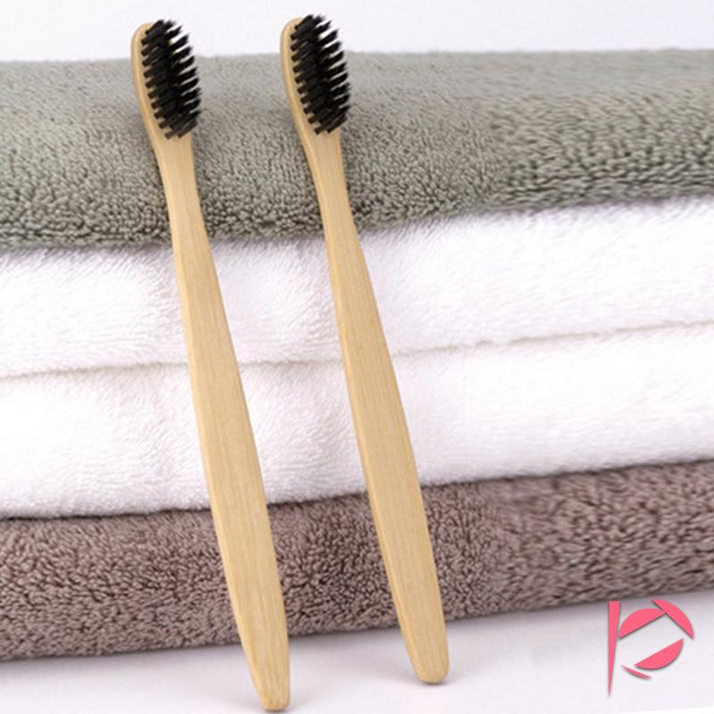 Hot Double Ultra Soft Toothbrush Bamboo Charcoal Nano Brush Oral Care Toothbrush Black Heads DHL Free