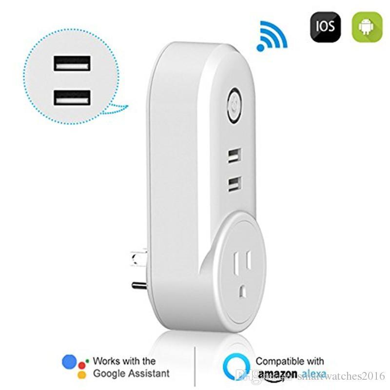Smart Plug Alexa Wireless Wifi Mini Outlet With 2 Usb Porttiming