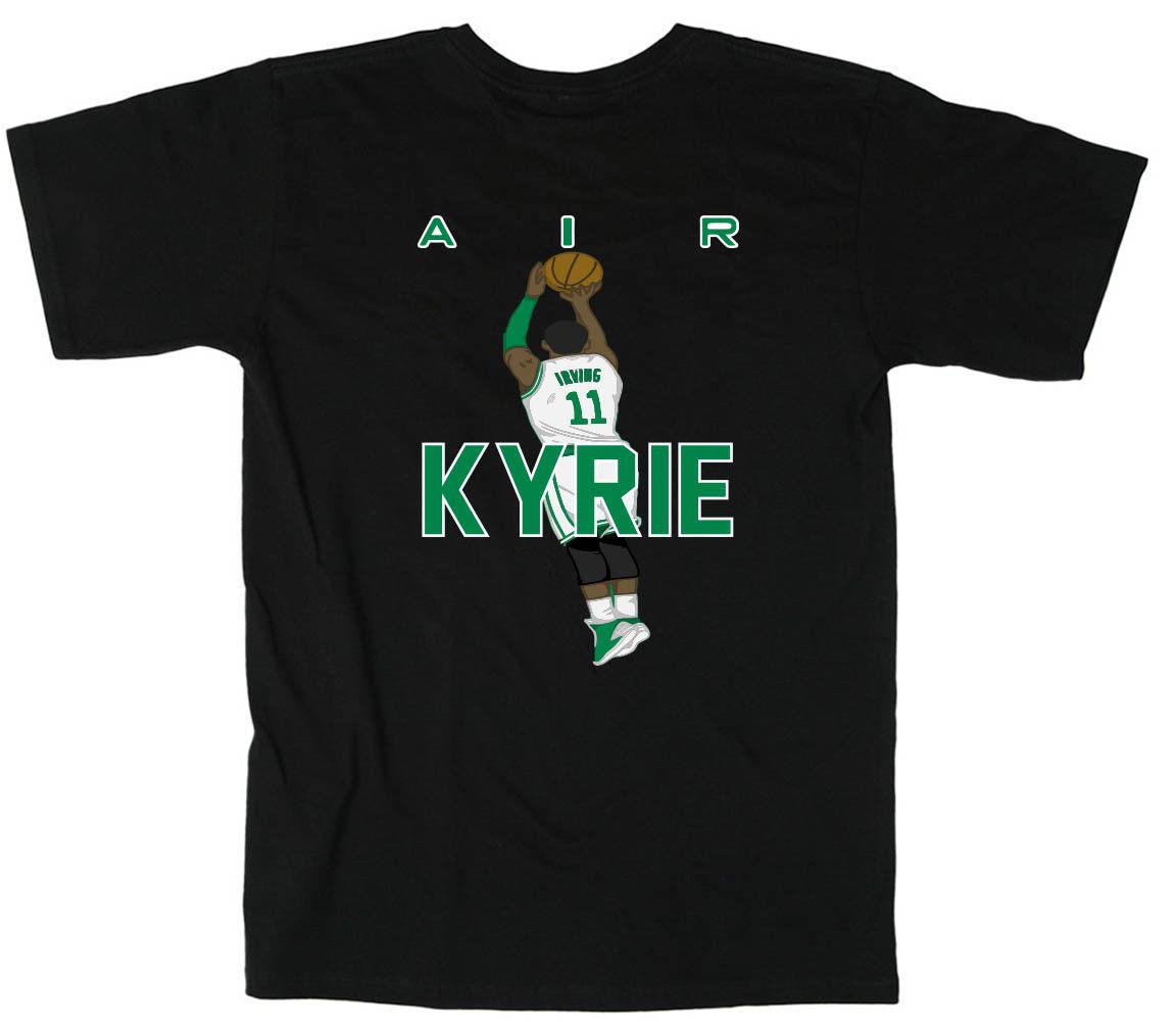 huge selection of 04276 849ed BLACK Kyrie Irving Boston Celtics Air Pic T Shirt Shirts For Men Shirt  Design From Printedtshirt,  13.19  DHgate.Com