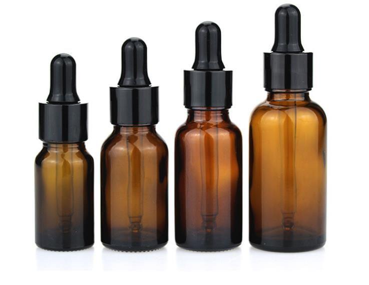 2018 Small Clear Glass 5ml 10ml e-liquid Dropper Bottle 1/4 Dram Mini Amber Glass Perfume Sample Essential Oil e-juice Bottle a668