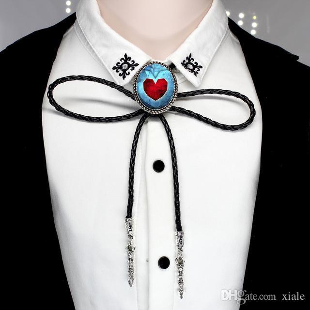 2018 Legend of Zelda Bolo Krawatte Western Cowboy Shirt Zelda Herz Krawatte Foto Halskette Schmuck BOLO-0011