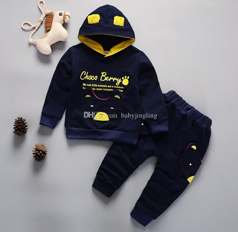 e9d38fb0 2019 Kids Spring Autumn Clothes Baby Hooded Sweatshirt Casual Set Children  Clothing Boys Winter Clothes Kids Tracksuit Clothing Suits From  Babyjingling, ...