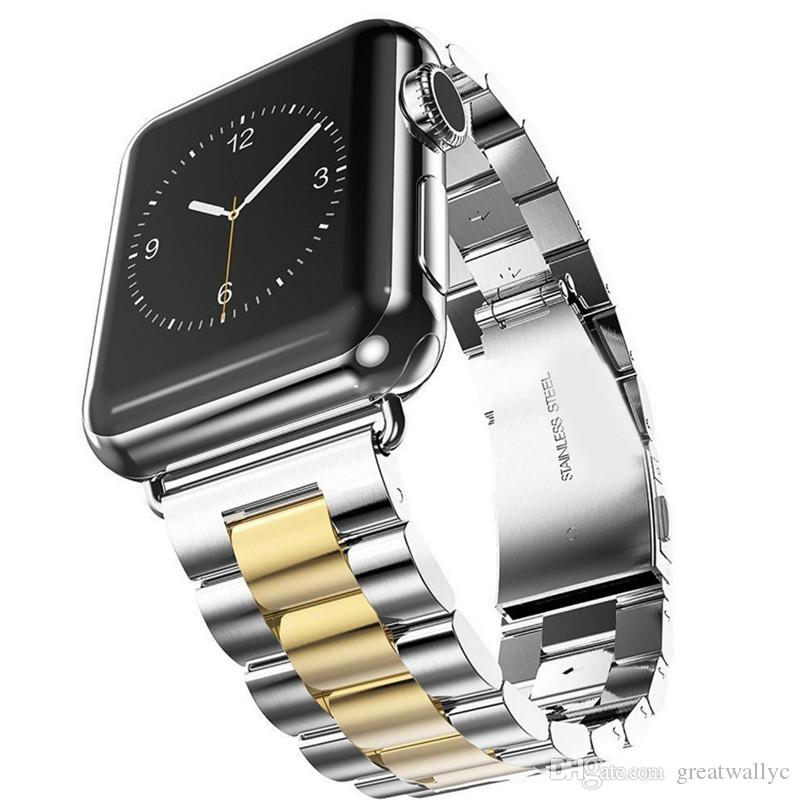 Stainless Steel Strap Links Bracelet Watchbands Smart Watch Metal Band For Watch Series 3 2 1 38mm 42mm