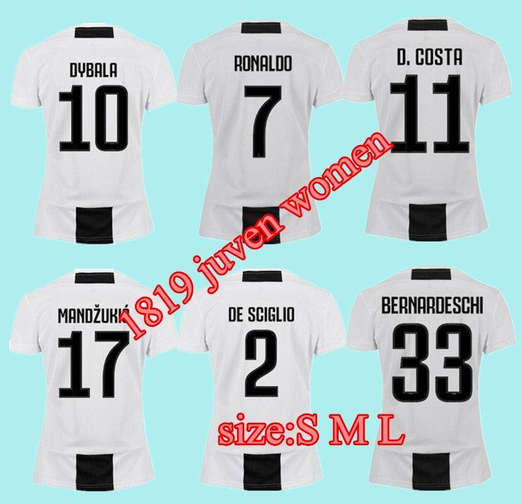 ed0c37a1a19 2019 Woman Juventus Soccer Jersey 18 19 Home 7 Ronaldo Soccer Shirt  CHIELLINI HIGUAIN DYBALA MANDZUKIC Girl Football Uniform Sales Online with   17.73 Piece ...