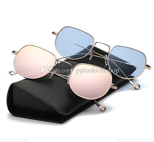 4a11c8a642 Compre 2018 Gafas De Sol Redondas Retro Diseñador De La Marca Gafas De Sol  Para Mujeres Y Hombres Espejo De Aleación Gafas De Sol Mujer Estilo De  Verano A ...