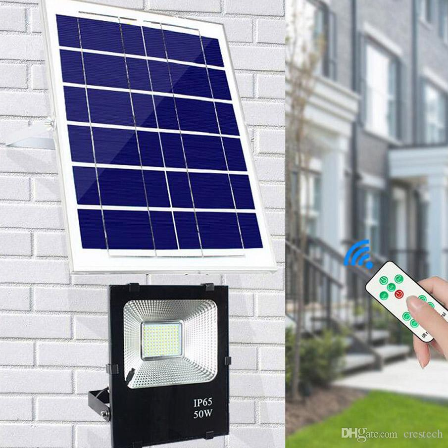Solar Floodlight Sensor 100W 50W 30W 20W 85LM W Power Cell Panel Charge Battery Outdoor Waterproof Industrial Lamps PIR Motion Induction