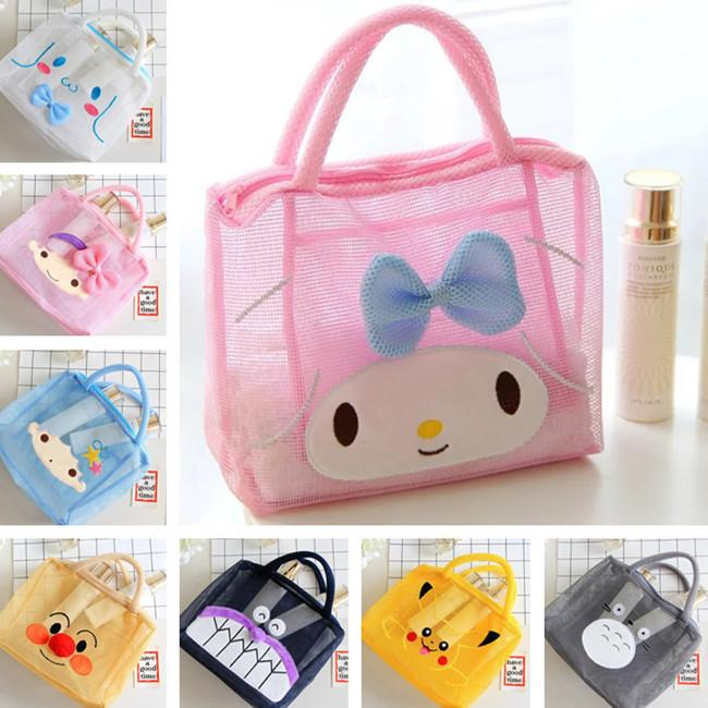 5fff7f1af88 2019 Cartoon Japan Hello Kitty My Melody Cinnamoroll Dog Pudding Dog  Polyester Transparent Cosmetic Bags Storage Mesh Bag Beach Bag From  Special2013, ...