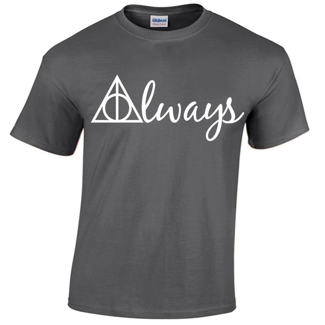 0247c3b31 ALWAYS Harry Potter T Shirt Men'S Wizard Gryffindor Hogwarts Snape ...