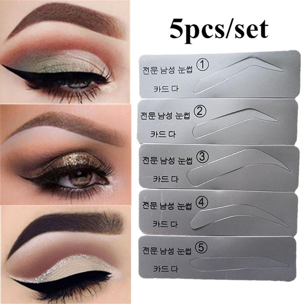 Eyebrow Template Stencils Brow Grooming Card Trimming Shaping Beauty