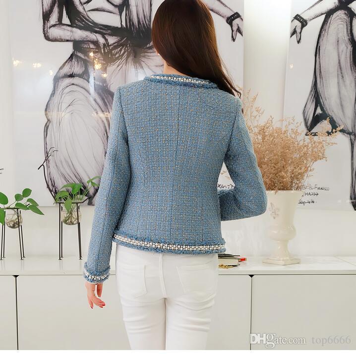 Kadın kış ceket Lüks ünlü moda Marka Asil Ziyafet Özel el yapımı boncuk Püskül boncuk inci Bayanlar Özel OL takım elbise ceket