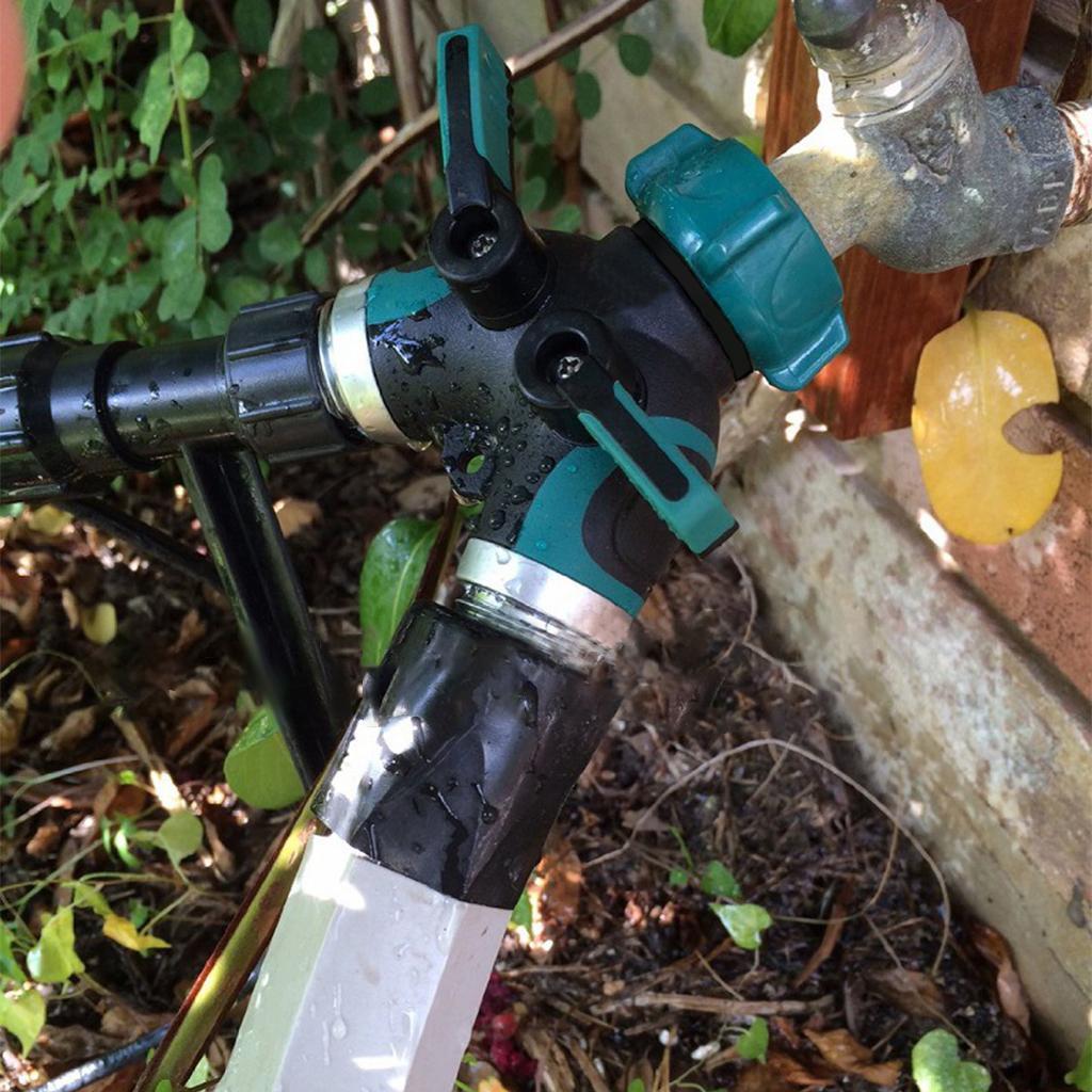 Adaptateur de robinet à prise caoutchoutée avec séparateur de tuyau à 2 voies Y avec 4 rondelles en caoutchouc, adapté aux assistants d'arrosage pour la vie au jardin et à la maison