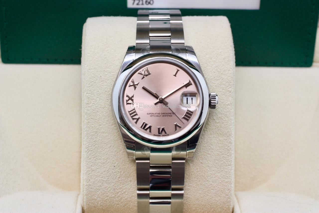 9f7ce20e79d Compre Relógios De Moda Date Only 31 Mm 178274 178240 Mostrador Rosa  Asiático 2813 Automático De Aço Inoxidável Mecânica Excelente Relógios De  Senhora ...