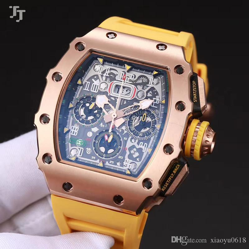 6266ac1ef43 ... Men S Watches New 011 Mineral Tempered Glass Automatic Machinery  Natural Rubber Stra Wrist Watch Buy Online Online Shopping Wrist Watch From  Xiaoyu0618