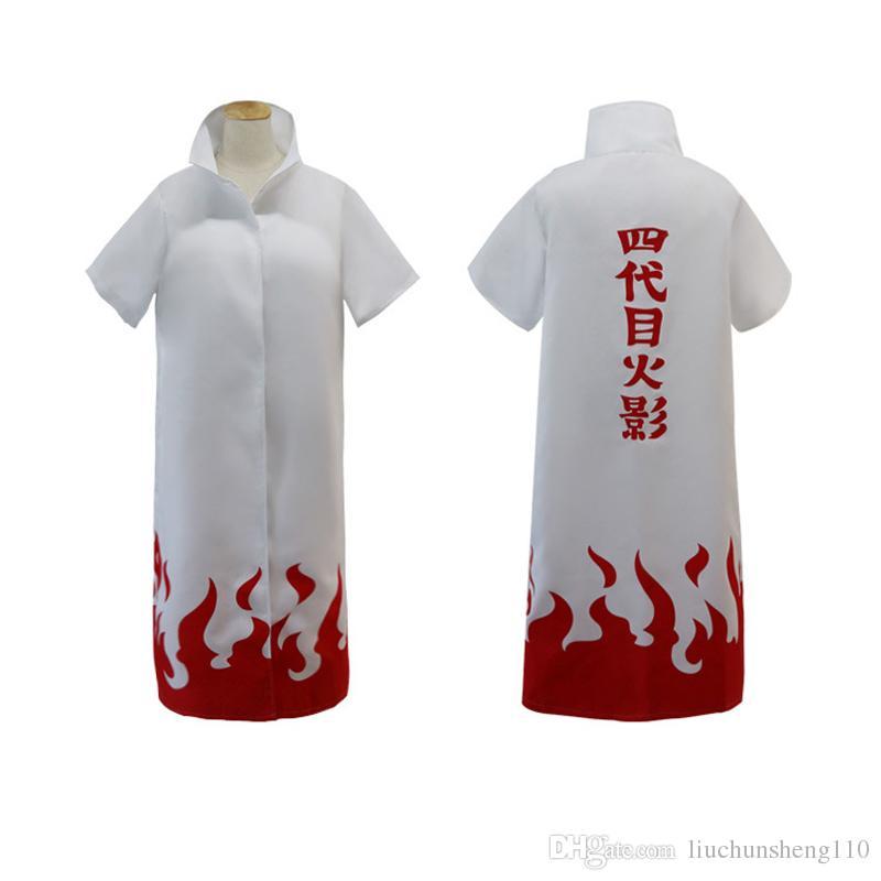 اليابان ناروتو yondaime الهوكاجي عباءة معطف الغبار الأبيض تأثيري حلي / الكبار / هالوين