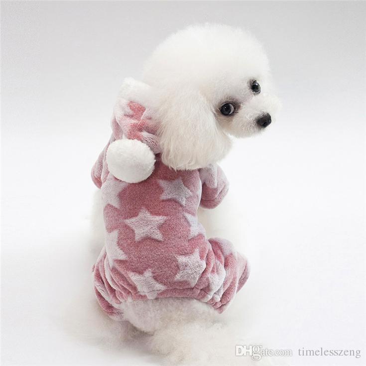 5 Размер собака костюм мода звезда pet одежда высокого quanlity плюшевый пудель осень зима теплая собака одежда 4 Цвет Оптовая