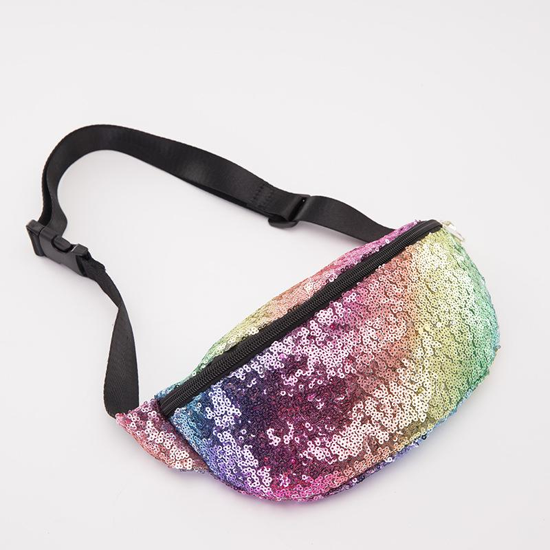 425511a08b5e Rainbow Fanny Pack For Women Mermaid Sequins Fabric Bumba Bag Fashion Bling  Waist Fannie Pack Money Phone Organizer Cooler Bags Backpacking Backpacks  From ...