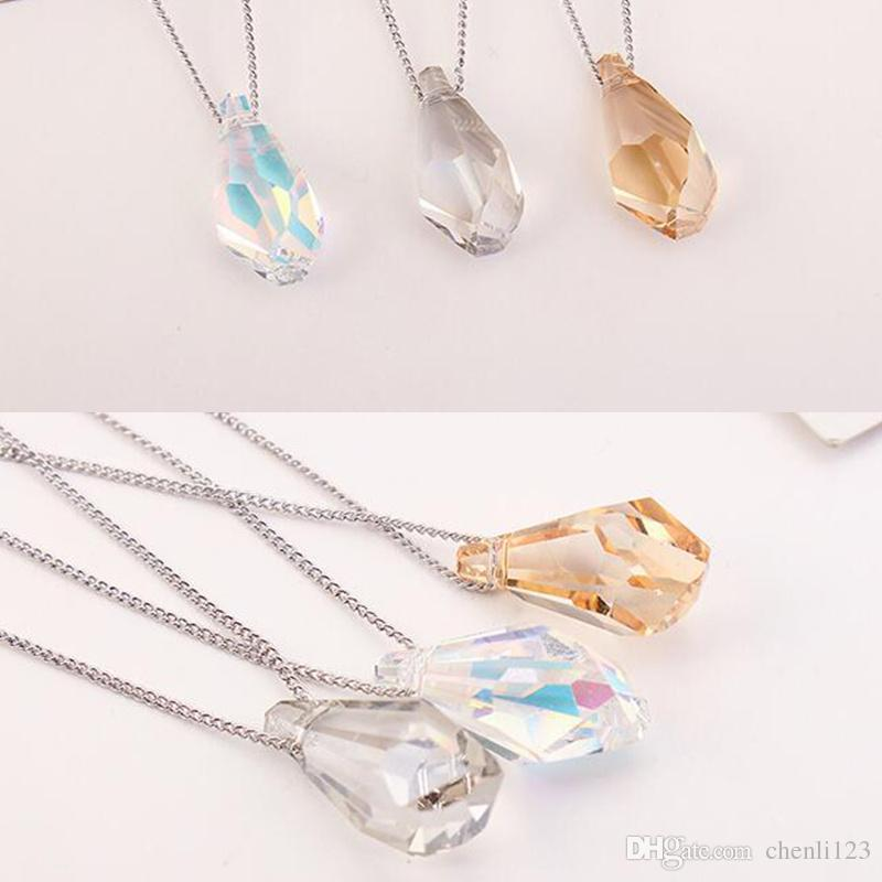 High Quality Fashion Jewelry Womens Accessories Crystal from Swarovski Elements Water Drop Necklaces Pendants Bijoux 27405