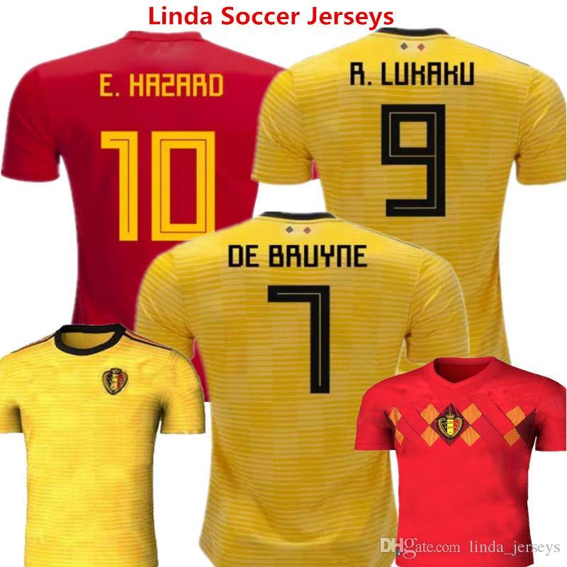 Soccer Jersey Belgium 2018 World Cup Football Shirts Eden Hazard ... 712154987