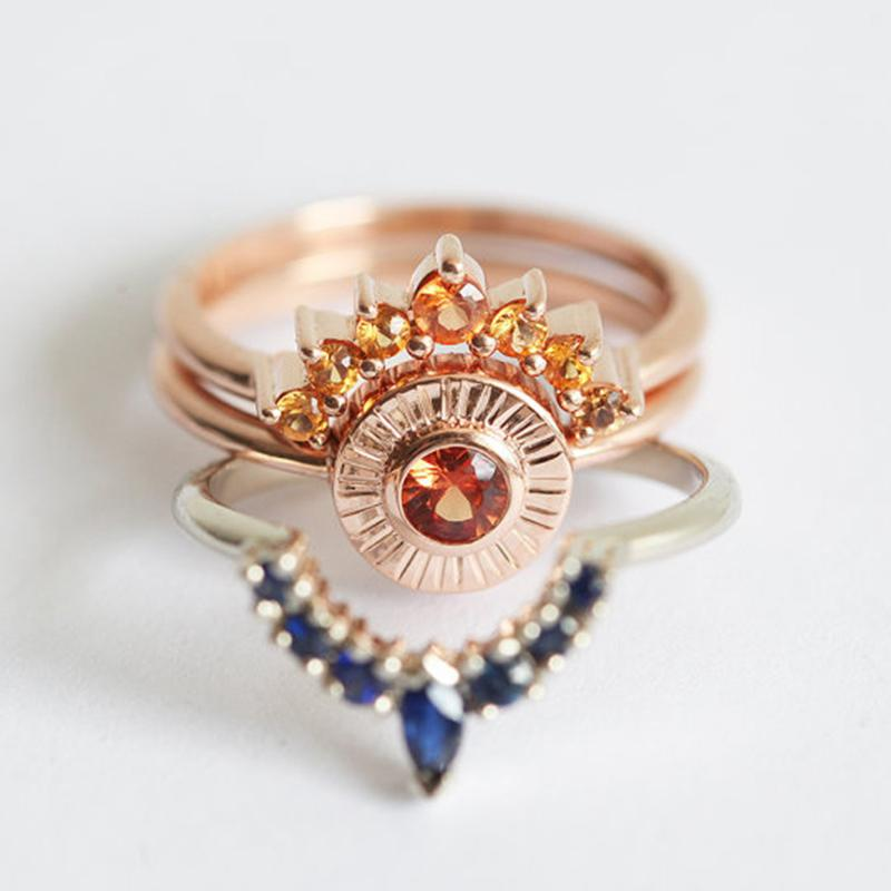 a12f38b24e 2019 SHUANGR Ring Set Vintage Crown Ring Bohemian Set Stack Fashion Women  Jewelry Boho Elegant Gold Stacking Women Rings From Buafy, $24.09 |  DHgate.Com