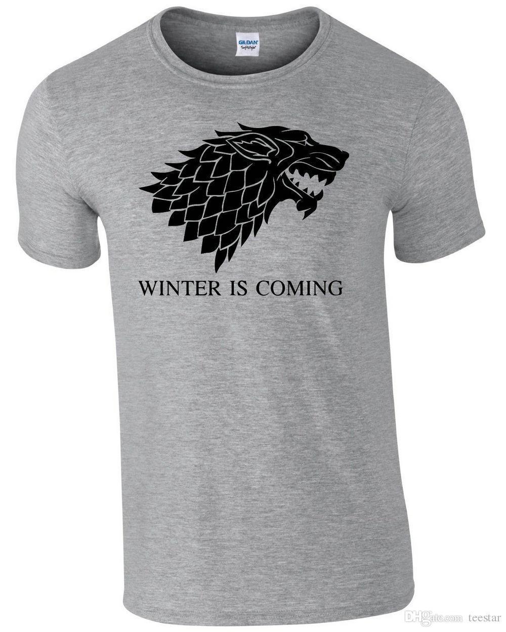 8c646a6a197 Cheap Shirt T-shirt For Men Design Custom Short Sleeve Plus Size Party T  Shirts Winter Is Coming Mens Tee T-Shirt Men O-Neck Tee Shirt