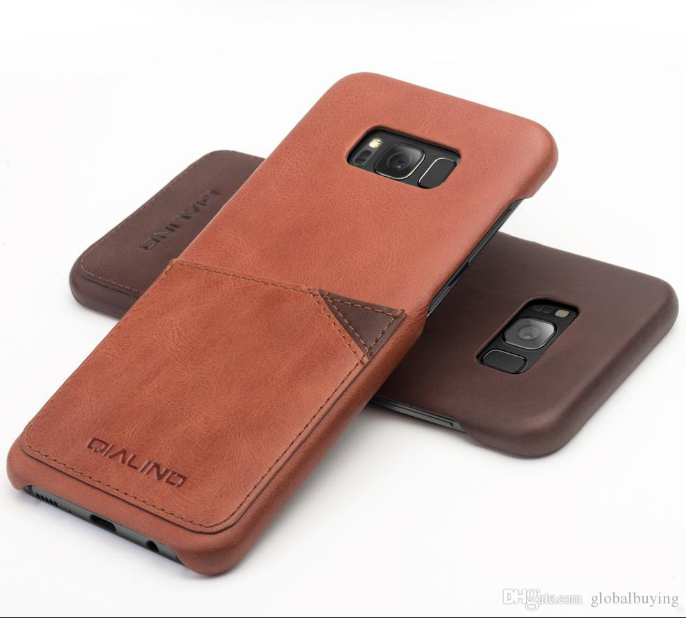 sale retailer 45ffa 7f801 back 113 New arrival leather back case for Samsung Galaxy S8, card holder  back cover for galaxy S8 plus