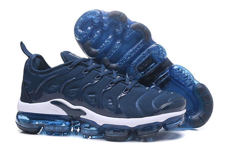5c4cd6af5d5fd5 Chaussure Hommes Vapormax TN Plus Running Shoes Men Triple Blue ...