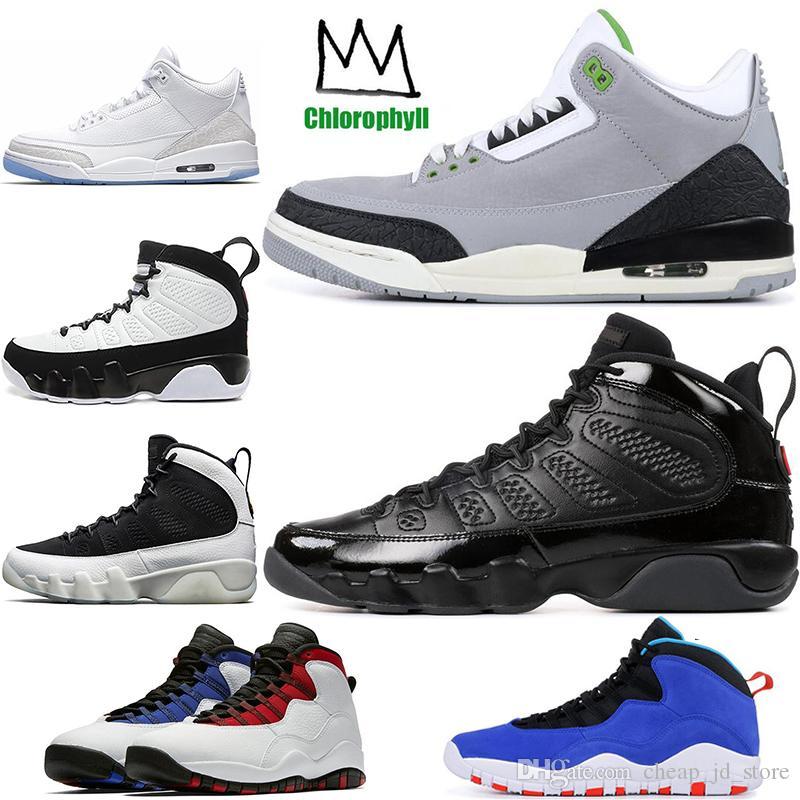 buy popular 4bcb0 e1ff1 Großhandel Nike Retro Air Jordan AJ Günstige New 9 9s Herren  Basketballschuhe LA Bred OG Anthrazit Die Spirit 3s Chlorophyll Pure White  Tinker 10 Zement ...