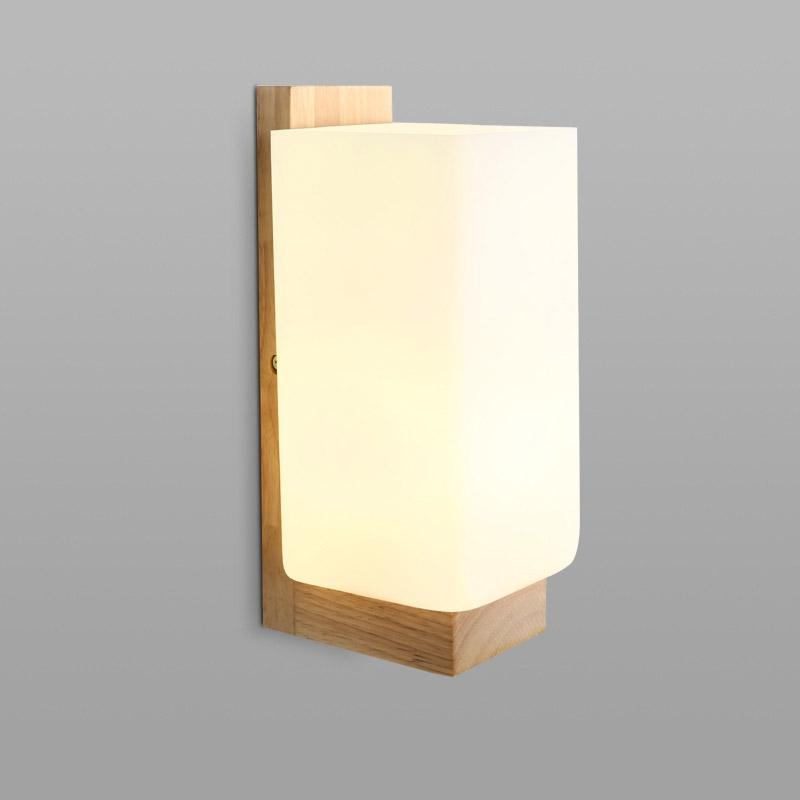 Lámpara de pared LED Interior moderno montado en superficie Cubo LED Luz de pared Iluminación interior Soporte Lámpara escalera luces E27 Socket Max 60W