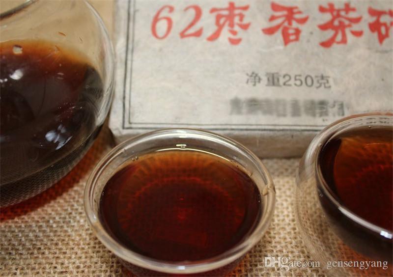 250г Зрелый пуэр чай Yunnan 1962 мармелад аромат пуэр чай Органический Pu'er старое дерево Приготовленный пуэр Пуэр Природный Кирпич черный Пуэр чай