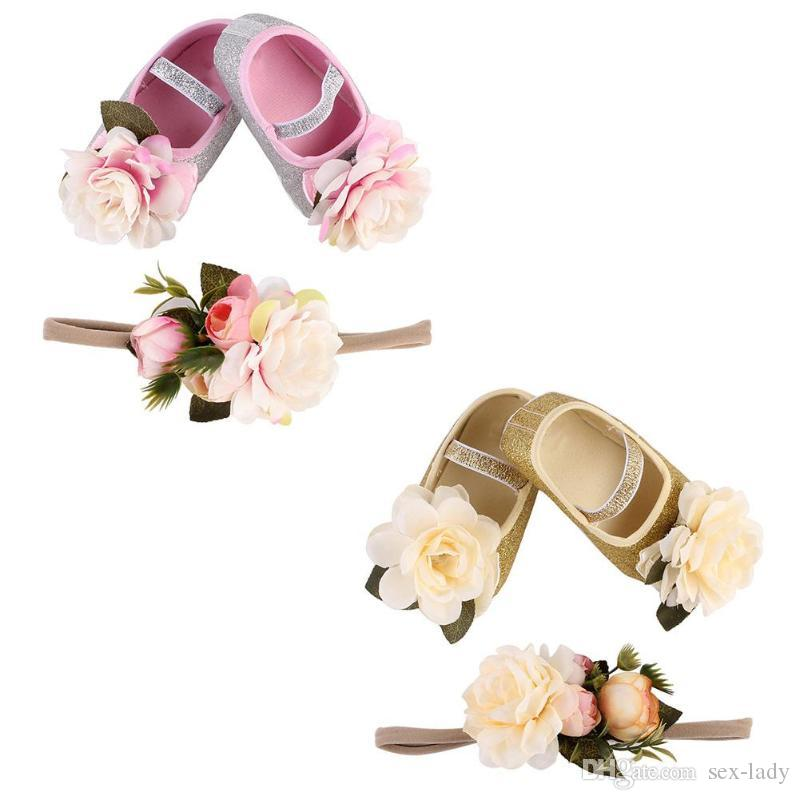 scarpe bambini e fascia bambini neonati scarpe da principessa capelli capelli moda capelli regalo carino bambine bambino neonato i