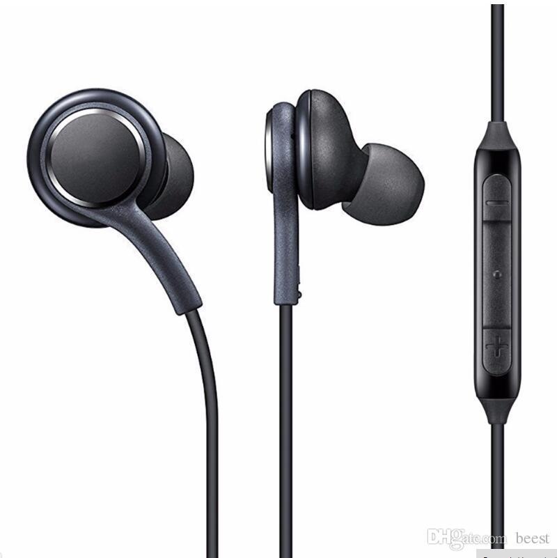 삼성 갤럭시 S8 S8 플러스 귀 유선 헤드셋 스테레오 사운드 이어폰 볼륨 제어 S7 참고 8 이어폰 소매 패키지