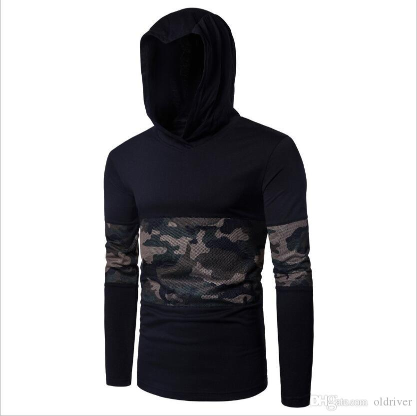 94d0a7152daf2 2019 Hot Sale Autumn Fashion New Men S Pullover Long Sleeved Camouflage  Mesh Stitching Hooded Assassin Casual Men S Sweater From Oldriver
