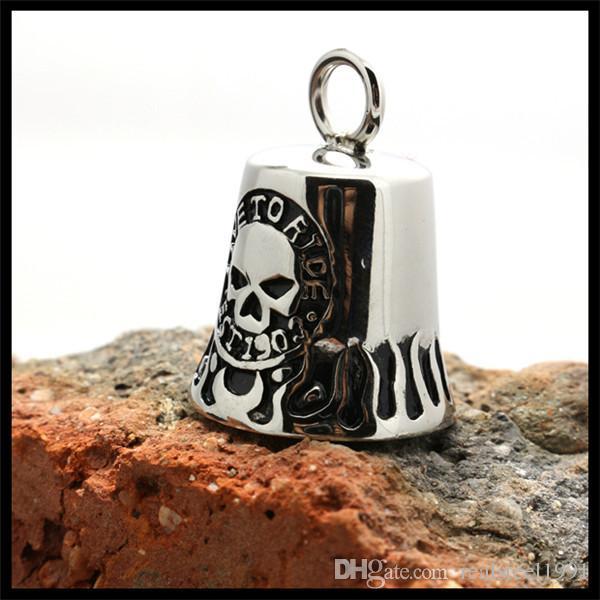/ più nuovo 5 stile biker campana ciondolo in acciaio inox 316l gioielli vendita calda stile motociclista ragazzi ragazzi ciondolo