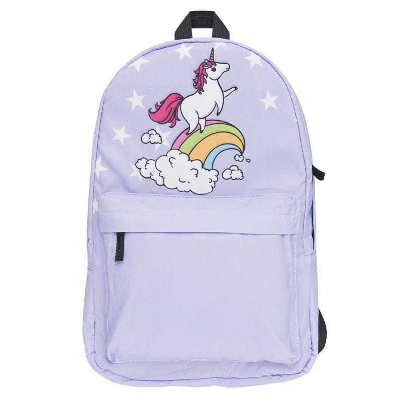 Милый мультфильм Единорог 3D печать рюкзаки дети школьные сумки Спорт Outdooor путешествия рюкзаки сумки красочные водонепроницаемый 4 стили
