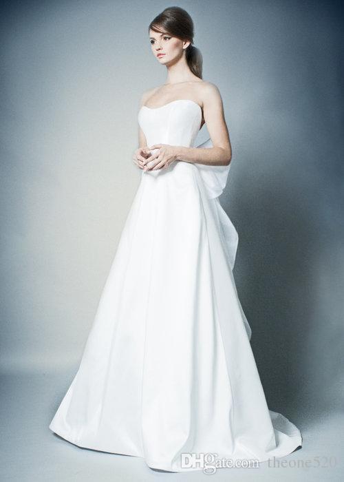 compre el Único vestido de novia estilo vintage francés hepburn 2018