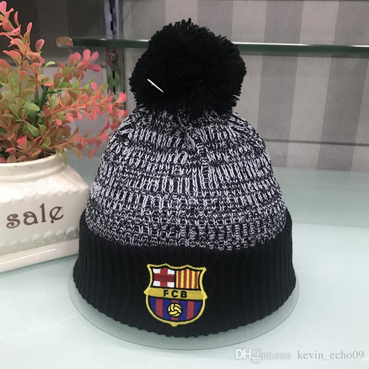 292964e2472 ARSENAL ACM Fashion Football Club Beanies Men Women Autumn Winter Beanies Knitted  Letter Embroidery Casual Hats Ladies Pom-pom Caps Fashion Knitted Beanies  ...