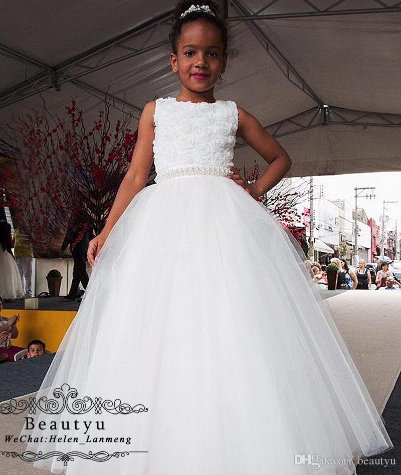 f375d2f488406 Acheter Robes De Princesse Fille De Fleur Pour Le Mariage De  111.91 Du  Beautyu